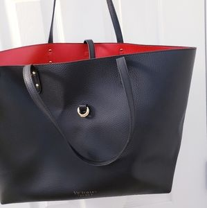 Victoria's Secret Tote Leather Red Inside